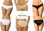 'Gorteks Lingerie' Carla Ladies Smooth Fabric Brief Knickers (UK Sizes 10 - 22)